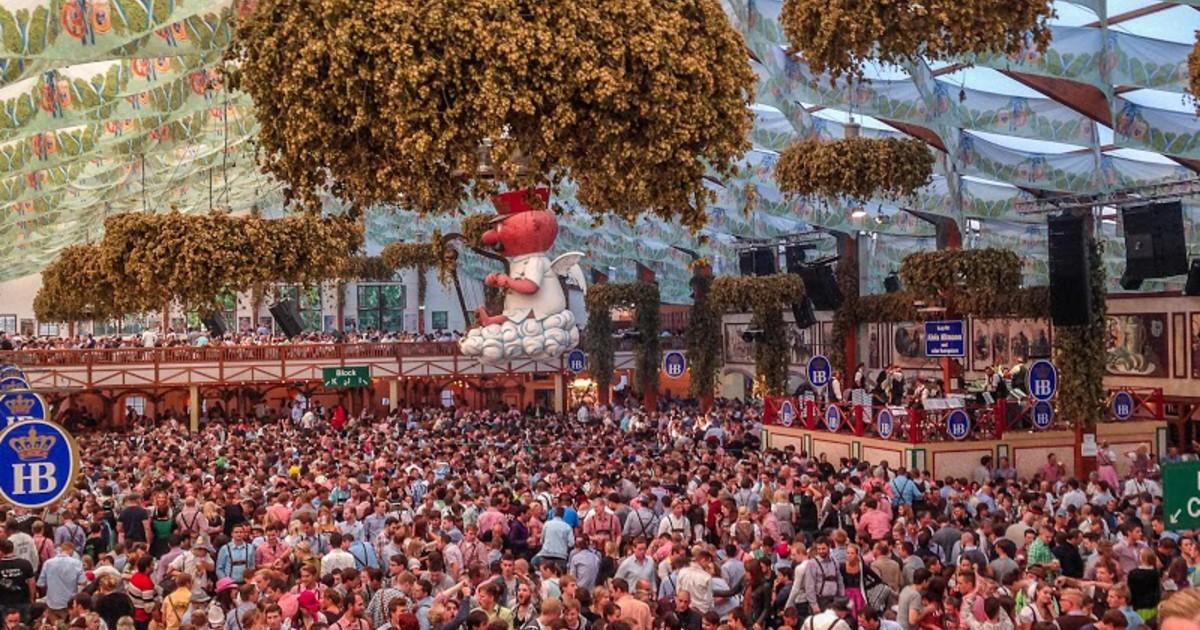 Zelte Zum Oktoberfest : Wiesn webcam im hofbräu festzelt münchen tv