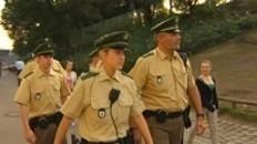Sicherheitskräfte im Einsatz auf dem Oktoberfest
