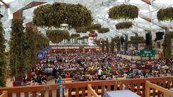 Stimmung auf dem Oktoberfest München im Hofbräu-Festzelt