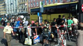 © Ankunft der Flüchtlinge am Hauptbahnhof