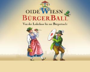 Plakat poster Oide Wiesn Bürger ball, © Münchner Festring