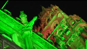 St. Patrick's Day - Rathaus in Grün