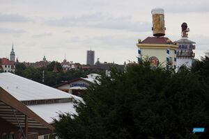 Die Skyline vom Münchner Oktoberfest 2014