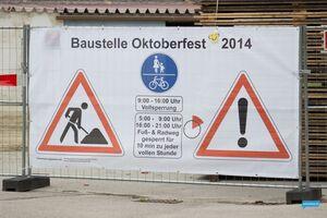 Baustelle Wiesn Oktoberfest 2014