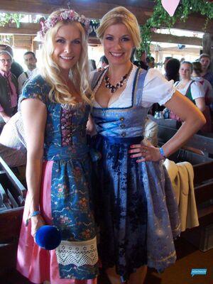 Annica Hansen oktoberfest wiesn 2014, © Tina Kaiser mit Annica Hansen auf dem Oktoberfest 2014