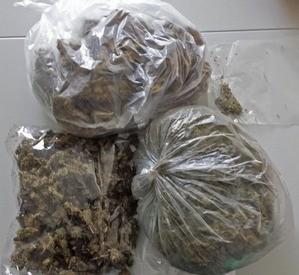 Beutel-Marihuana-Drogen-Dope-Peace, © Polizei