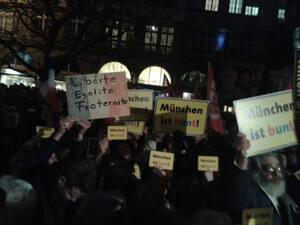 muenchen ist bunt pegida gegner demo, © München ist Bunt Demo