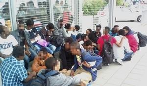 Flüchtlinge Rosenheim Bundespolizei, © Foto: Bundespolizei