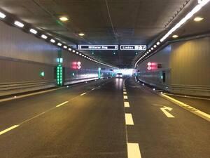 Luise-Kiesselbach-Tunnel München - Fahrt durch den Tunnel vor Eröffnung , © Hier fahren künftig tausende Autos täglich - der neue Luise-Kiesselbach-Tunnel in München