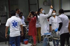 Behandlungszimmer in Nepal, © Das Medizinische Katastrophen-Hilfswerk leistet Hilfe in Nepal