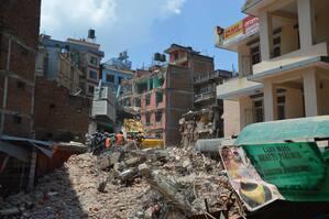 Zerstörtes Haus Nepal, © Etliche Häuser wurden in Nepal zerstört - Foto: Medizinisches Katastrophen Hilfswerk