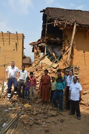 zerstörtes Haus in Kathmandu, © Eines von zahlreichen zerstörten Häusern -  Foto: Medizinisches Katastrophen Hilfswerk