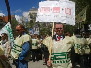 Der Streik der GDL geht weiter, © Bilder von dem GDL-Streik in München
