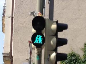Ampelmännchen im Münchner Glockenbachviertel zum CSD
