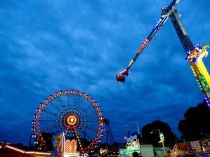 Riesnrad im Olympiapark München bei Nacht, © Das Festival bei Nacht - Foto: Agnes aus München