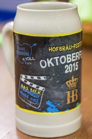 Oktoberfest Hofbräu Krug zur Wiesn 2015, © Das ist der Hofbräu Wiesn-Maßkrug 2015