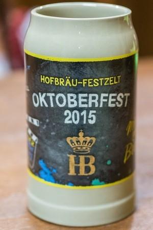 Oktoberfest Hofbräu Krug zur Wiesn 2015, © Der neue Krug von vorne.