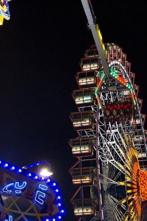 Oktoberfest Riesenrad Wiesn Nachts