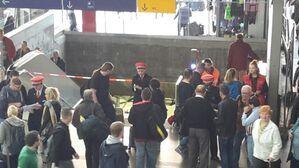 © Sogar der Zugang zur S-Bahn musste am Hauptbahnhof zwischenzeitlich gesperrt werden.