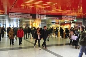 Eröffnung Zwischengeschoss Marienplatz, © MVG Marienplatz Photo: Osram