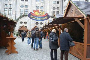 © Märchenwald auf dem Christkindlmarkt an der Residenz München