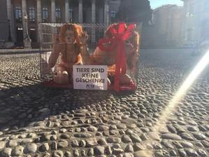 © Die Organisation PETA will mit der Aktion Aufmerksamkeit schaffen