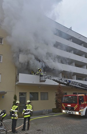 Brand Poccistr, © Foto: Berufsfeuerwehr München