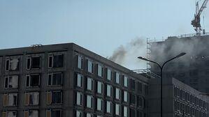Brand auf Baustelle in der Leopoldstraße