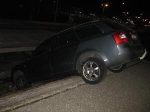 Auto im Gleis, © Foto: Bundespolizei