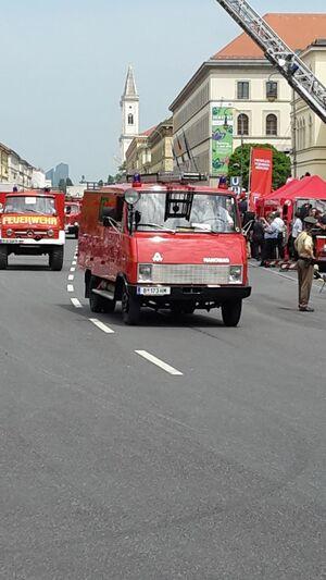 Historisches Feuerwehr-Fahrzeug