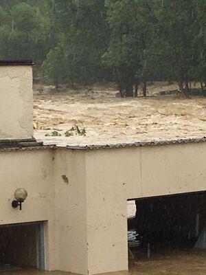 © Hochwasser in Niederbayern - bei Simbach am Inn - Foto: Y. Elfers