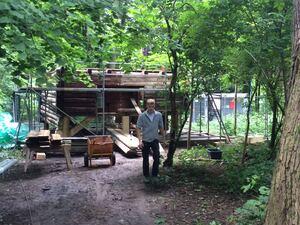 Wiederaufbau der Höllentalangerhütte in München