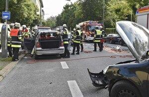 Unfallort an der Thalkirchner Straße, © Einsatzfoto der Feuerwehr München