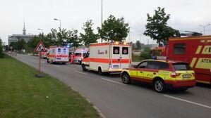 Einsatzkräfte wegen Schiesserei in München