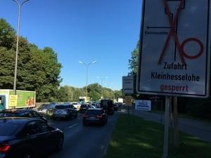 Stau auf dem Isarring, Baustelle Ifflandstraße, © münchen tv