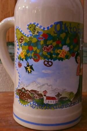 So sieht der neue Wiesn-Krug des Hofbräu Festzelt zum Oktoberfest 2016 aus.