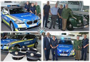 Polizeiwagen, Polizeiauto, blau, Bayern, Joachim Herrmann, © Innenminister Joachim Herrmann gab Polizeipräsident Robert Kopp gleich einen Wagen mit.