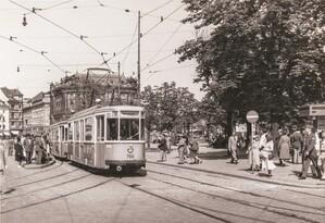 Historische Tram, © Foto: Bildarchiv der Freunde des Münchner Trambahnmuseums e.V.
