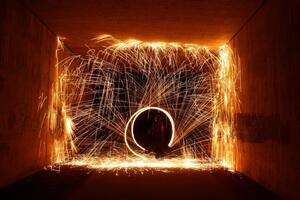 Der Feuerkünstler Tyrian., © Foto: Sebastian Maier