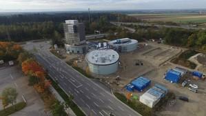 Drohnenansicht der Jochen Schweizer Arena., © Foto: jochen-schweizer.de