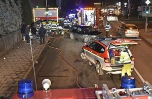 Unfall Pippingstraße, © Foto der Berufsfeuerwehr München
