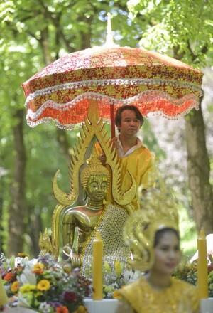 Buddhistischer Sonnenschirm, © Fotos: Copyright Hr. Schwalmberger