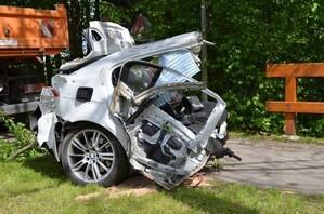 Hinterer Teil eines Autos von einem schweren Unfall, © Foto: Bundespolizei