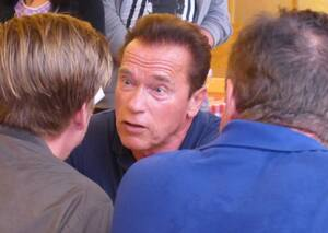 Oktoberfest 2017: Wiesn-Promis:, © Arnold Schwarzenegger auf dem Oktoberfes