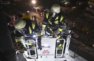 Einsatzbilder der Feuerwehr, © Foto: Berufsfeuerwehr München