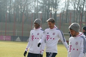 © Robert Lewandowski und David Alaba.