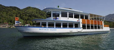Auf dem Tegernsee kann man mit dem Dampfer fahren., © www.seenschifffahrt.de