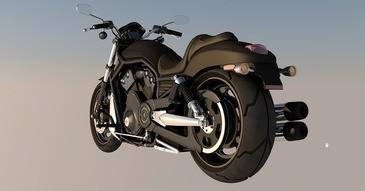 Motorrad in der Luft