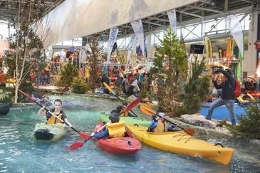 Die Kanu-Teststrecke der Freitzeitmesse f.re.e, © Messe München GmbH