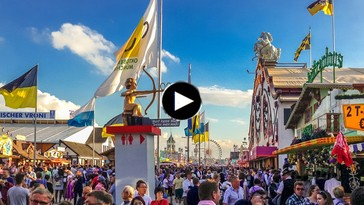 Wiesn-Webcam auf die Wirtsbudenstraße Oktoberfest